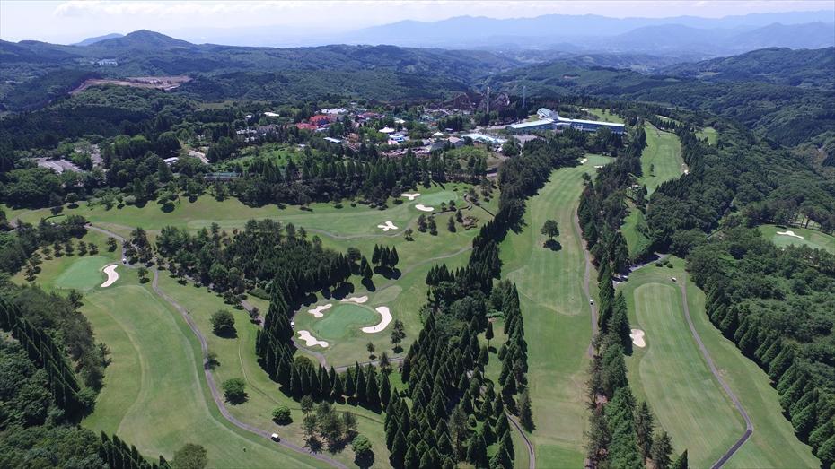 空から見た城島高原。